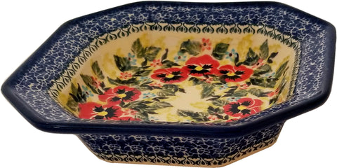 Boleslawiec Polish Pottery Unikat Square Serving Bowl