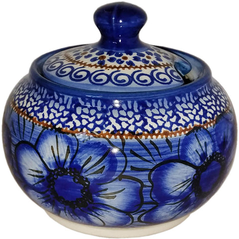 Boleslawiec Polish Pottery UNIKAT Sugar Bowl