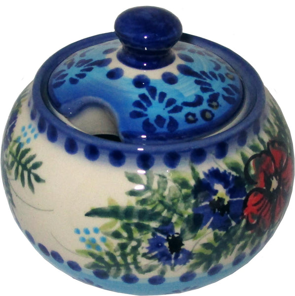 "Boleslawiec Polish Pottery UNIKAT Sugar Bowl ""Veronica"""