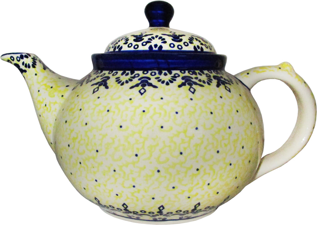 "Boleslawiec Stoneware Polish Pottery Teapot Coffee Pot ""Lace"""