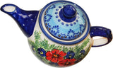 "Boleslawiec Stoneware Polish Pottery UNIKAT Teapot or Coffee Pot ""Veronica"""