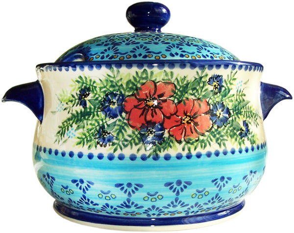 Boleslawiec Polish Pottery Stoneware Unikat Soup Tureen Or