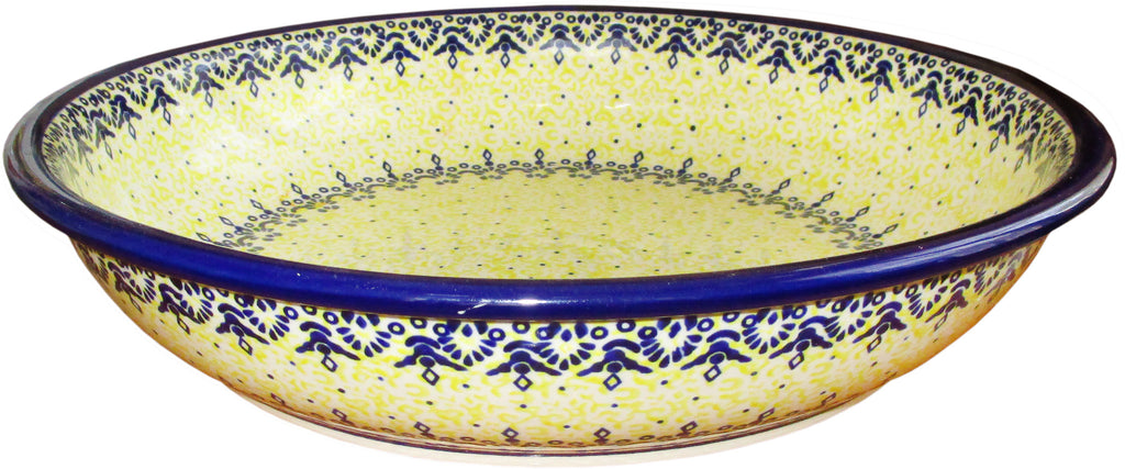 "Boleslawiec Polish Pottery UNIKAT Extra Large Serving Bowl ""Lace"""