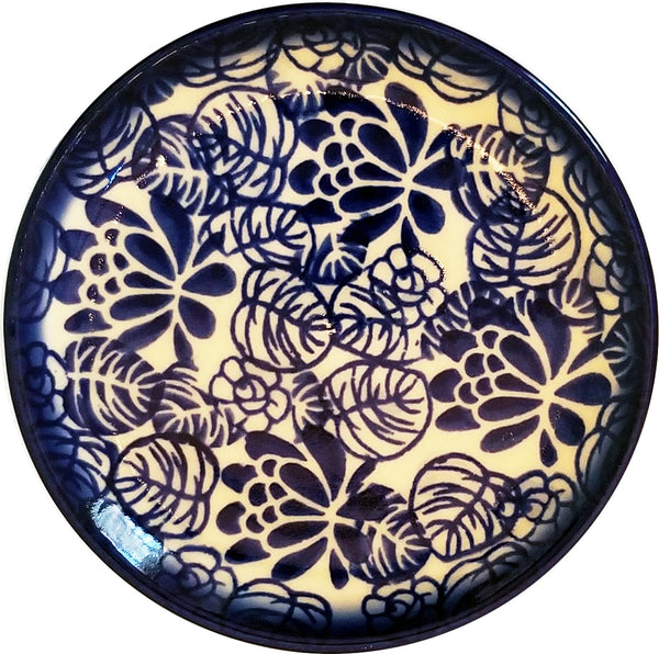 "Boleslawiec Polish Pottery 4"" Small Plate Unikat ""Madeline"" by Eva's Collection"