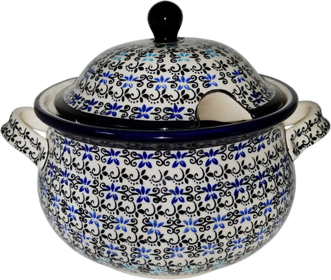 Boleslawiec Polish Pottery UNIKAT Soup Tureen or Baker 5L