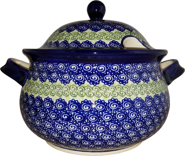 "Boleslawiec Polish Pottery UNIKAT Soup Tureen or Baker 5L ""Alex"""