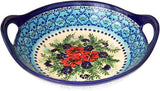 "Boleslawiec Polish Pottery UNIKAT Large Serving Bowl with Handles ""Veronica"""