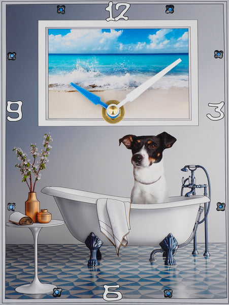 Rat Terrier Collage Clock