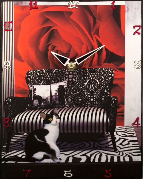 Smell the Rose Collage Clock