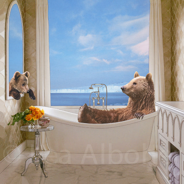 Bearly Relaxing Metal Print