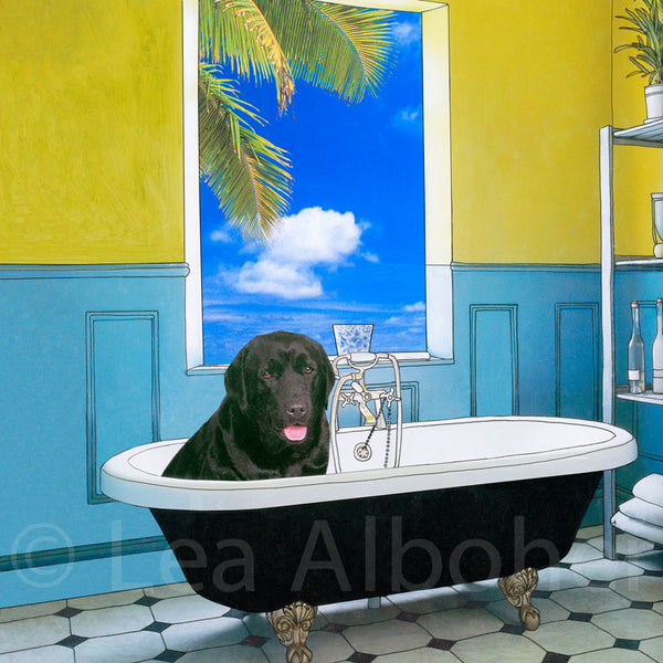 midnight In The Tub Metal Print