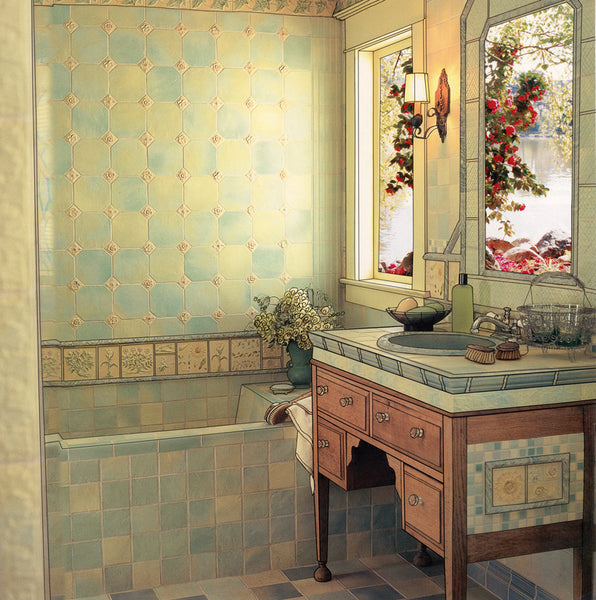 Classical Bathroom, Custom Metal Print