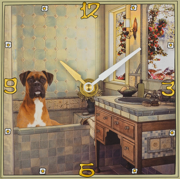 Boxer, Collage Clock