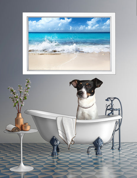 Rat Terrier Collage Metal Print