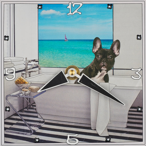 Frenchie 2, Collage Clock