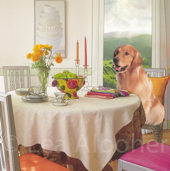 Golden Retriever Dining