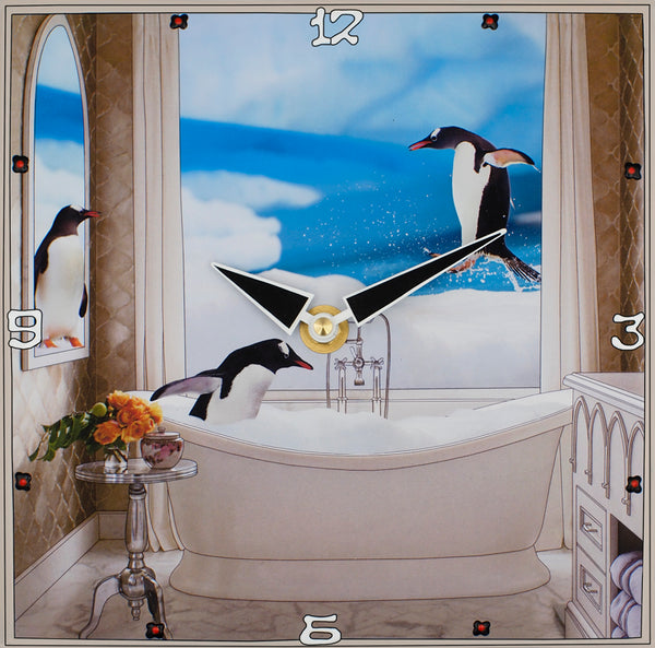 Penguins Playground Collage Clock
