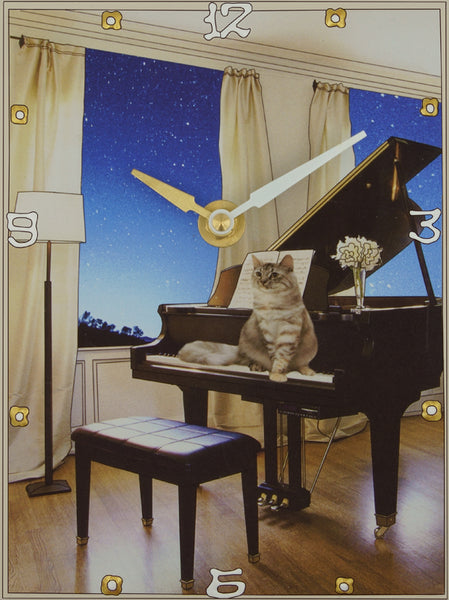 Evening Serenade, Collage Clock