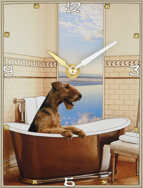 Airedale, Collage Clock