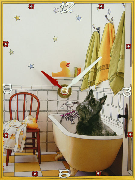 Scottie & Ducks Collage Clock