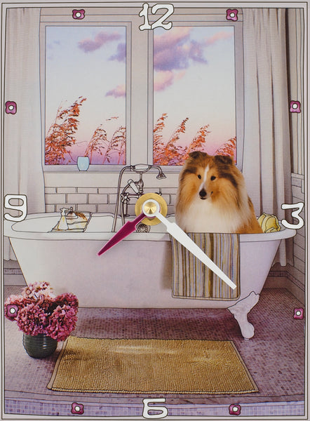 Sheltie Collage Clock