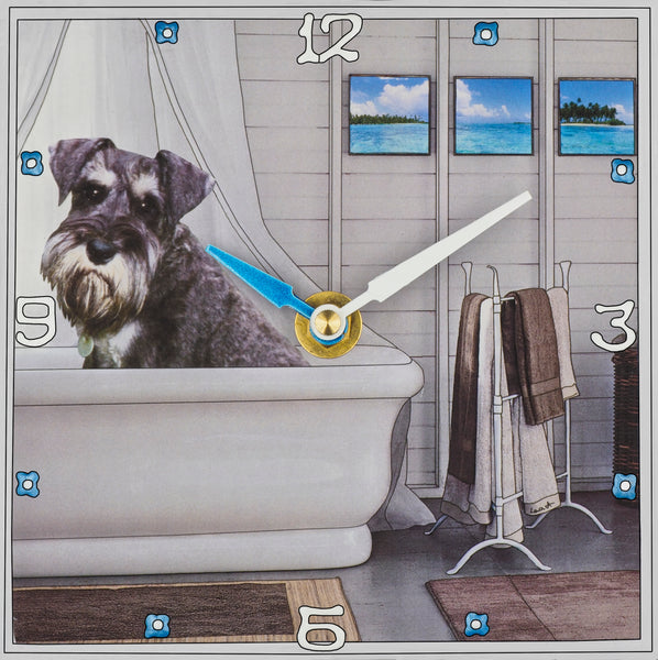 Schnoozer Collage Clock