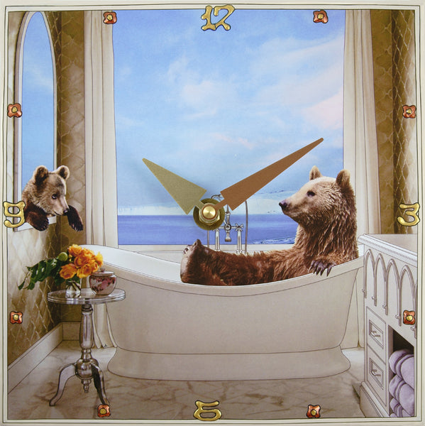 Bearly Relaxing, Collage Clock