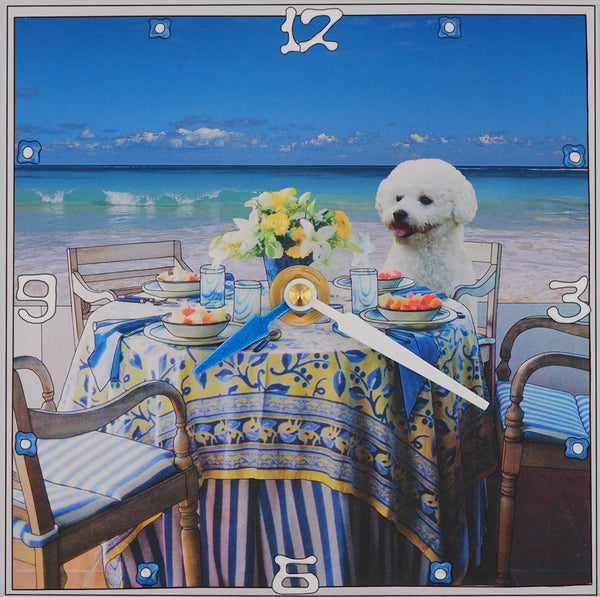 Bichon Fris'e, Collage Clock