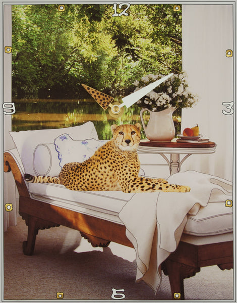 Cheetah Lounge, Collage Clock