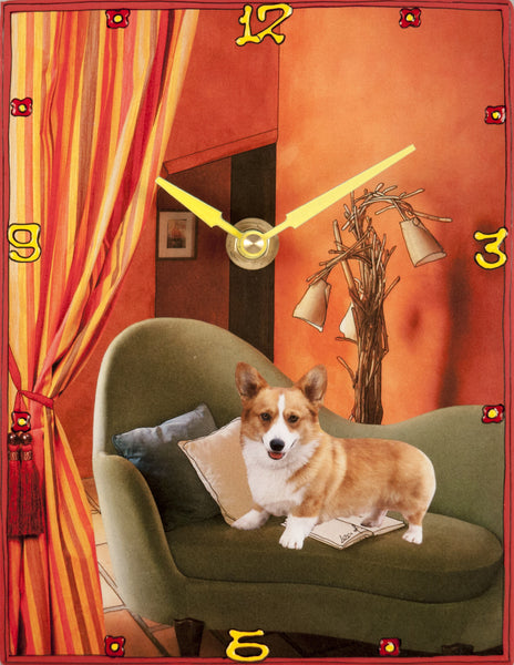 Proud Corgi Collage Clock