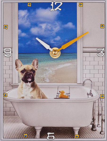 French Bulldog, Collage Clock