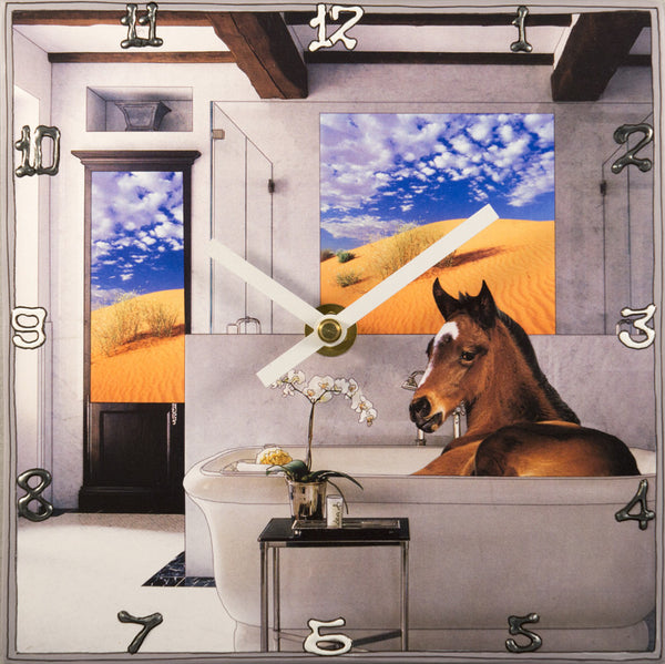 Horse, Collage Clock