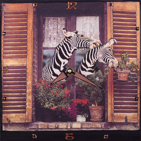 Kiss of the Zebra, Collage Clock