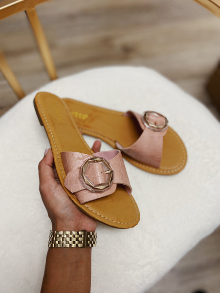 Rose Buckle Sandal