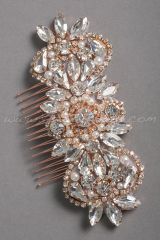 Rose Gold Hair Comb - Belita
