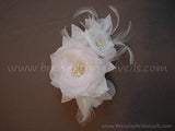 White or Ivory Rose Headpiece - Mae