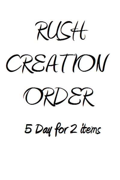 Rush Creation - 5 day (2 items)