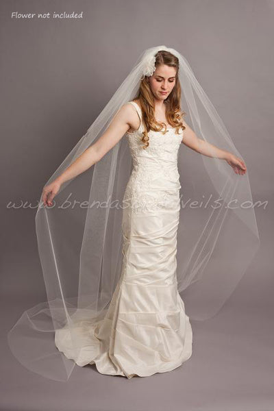 Tulle Bridal Veil Single Layer - Patrice
