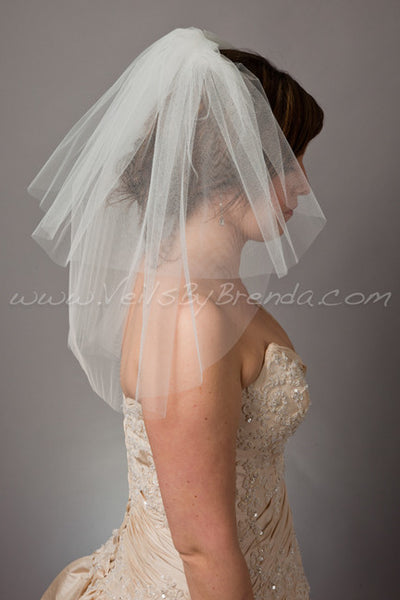 Tulle Bridal Veil, Short Double Layer - Latisha