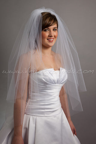 Tulle Bridal Veil Double Layer - Ivanna