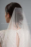 Drop Veil, Single Layer Tulle - Eden