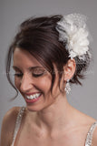 Silk Flower and Lace with Netting and Tulle Accents - Essence