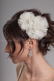 Point d'Esprit Flowers Headpiece - Flora