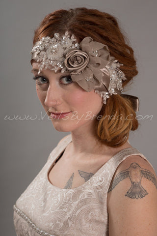 Flower and Lace Great Gatsby Headband - Gidget