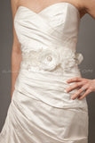 Flower and Lace Bridal Sash - Isabella