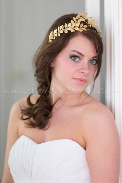 Isidora - Gold Leaf Bridal Headband