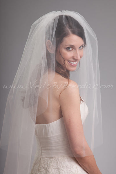 Bridal Veil Double Layer - Kimberly