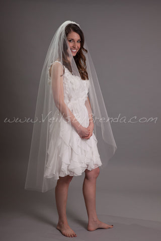 "Waltz Tulle Bridal Veil 52"" Single Layer - Shakira"