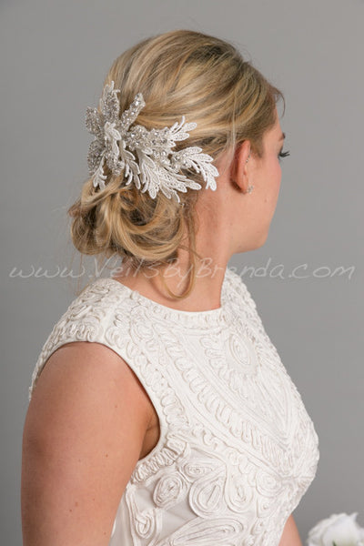 Rhinestone Lace Headpiece - Sheneka
