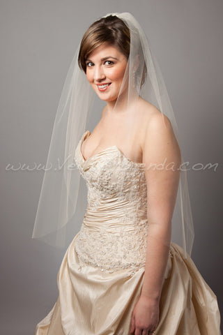 "Bridal Veil Single Layer - 30"" through 40"" Lengths"